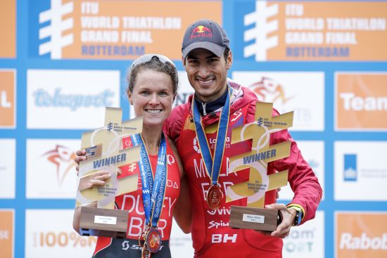 2017 ITU world champions: Flora Duffy and Mario Mola