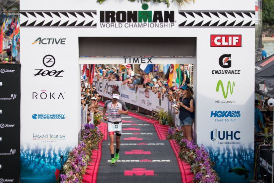 Braden Currie finishes his first Kona